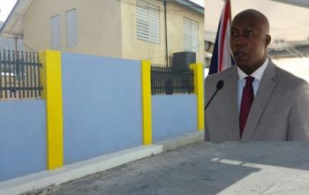 Controversial Minister for Education and Culture Hon Myron V. Walwyn (AL), just before the 2015 snap elections, forked out some one million dollars to construct a wall around a school, which has done nothing to address the major issue of indiscipline among students of Elmore Stoutt High School. Photo: VINO/File