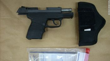 Zimmerman's gun is displayed. The shooting raised questions about gun laws, as well as the merit of the