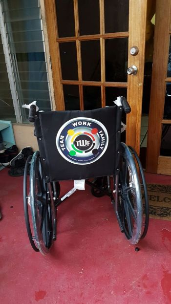 The wheelchair that was donated to the Adina Donovan Home for the Elderly on April 26, 2017. Photo: TWF