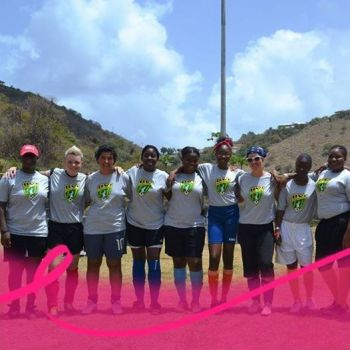 The BVIFA Women's League is supporting Breast Cancer Awareness Month. Photo: Provided