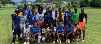 On the second day of touring Caribbean member associations, FIFA President Giovanni V. Infantino, visited Saint Vincent and the Grenadines on August 10, 2019. Photo: FIFA