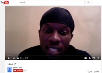 Mr Touche D. McLean used social media, including Youtube, to make his scathing allegations. Photo: Youtube