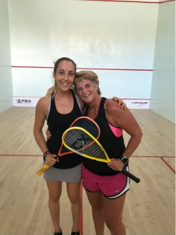 Zoe Sorrentino, left, beat Jane Wyllie in the Women's Club Championships Final 2019. Photo: Provided